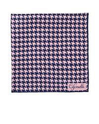 Cifonelli - Blue Houndstooth Silk Twill Pocket Square - Lyst