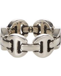 Hoorsenbuhs - Metallic Silver Classic Tri-link Ring for Men - Lyst