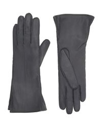 Barneys New York - Gray Gusseted Gloves - Lyst