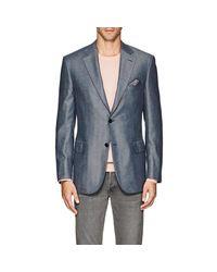 Brioni - Blue Ravello Herringbone Silk-cashmere Two-button Sportcoat for Men - Lyst