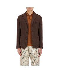 Barena - Brown Linen-blend Three - Lyst