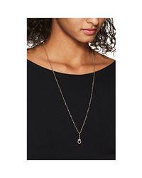 Samira 13 Metallic Spiked Pearl Pendant Necklace
