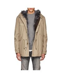 Mr & Mrs Italy - Multicolor Fur-trimmed Cotton Midi-parka for Men - Lyst