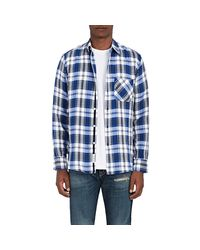 Rag & Bone - Blue Beach Plaid Cotton Shirt for Men - Lyst