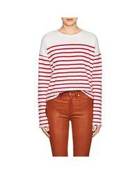 102dbe94af Lyst - Rag & Bone Halsey Striped Cotton T
