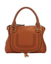 Chloé - Brown Marcie Medium Satchel With Strap - Lyst