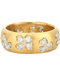 Cathy Waterman - Metallic Floating Lights Wildflower Ring - Lyst