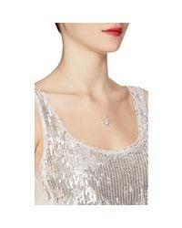 Samira 13 - White Diamond Spider Pendant Necklace - Lyst