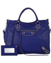 Balenciaga - Blue Metallic Edge Classic Velo - Lyst
