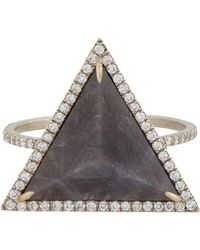 Monique Péan - White Diamond & Sapphire Ring - Lyst