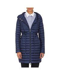 Moncler - Blue Barbel Hooded Puffer Coat - Lyst