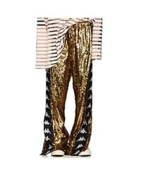 Faith Connexion - Metallic Logo-striped Sequin-embellished Track Pants for Men - Lyst
