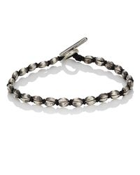 M. Cohen - Black Coffee Bean Bracelet for Men - Lyst