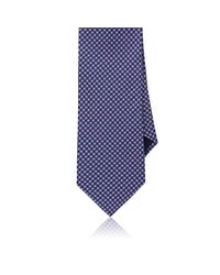 Piattelli - Blue Neat Silk Faille Necktie for Men - Lyst