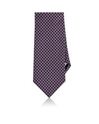 Barneys New York | Purple Houndstooth Jacquard Necktie for Men | Lyst