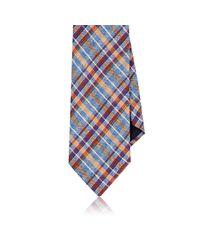 Barneys New York - Blue Plaid Necktie for Men - Lyst