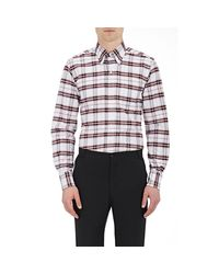 Thom Browne - Multicolor Plaid Oxford Cloth Shirt for Men - Lyst