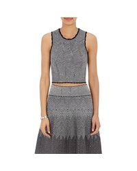 Opening Ceremony | Gray Optical Lines Crop Top | Lyst