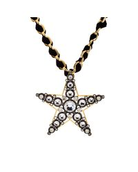 Lanvin - Multicolor Star Brooch Pendant Necklace - Lyst