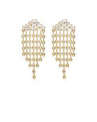 DANNIJO | Metallic Gianna Fringed Earrings | Lyst