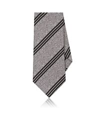 Eidos - Gray Striped Silk Jacquard Necktie for Men - Lyst