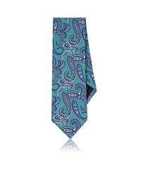 Paolo Albizzati - Green Paisley Silk Necktie for Men - Lyst
