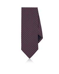Barneys New York - Blue Geometric-print Silk Necktie for Men - Lyst