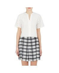 Proenza Schouler - White Cotton Poplin Crop Top - Lyst