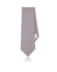 Paolo Albizzati - Orange Honeycomb-pattern Silk Twill Necktie for Men - Lyst