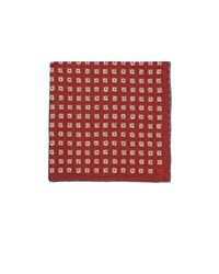 Isaia | Red Reversible Silk Pocket Square for Men | Lyst