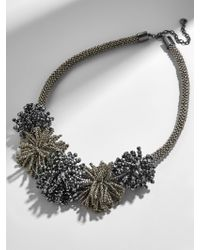 BaubleBar - Gray Riviera Statement Necklace - Lyst