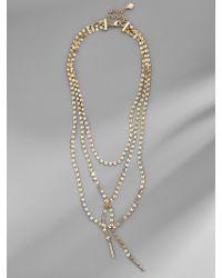 BaubleBar - Metallic Amber Y-choker Necklace - Lyst