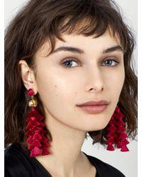 BaubleBar - Red Corsetta Tassel Earrings - Lyst