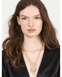 BaubleBar - Metallic Brielle Pendant Necklace - Lyst
