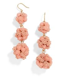 BaubleBar - Multicolor Floral Crispin Ball Drop Earrings - Lyst