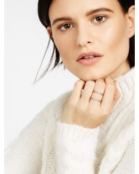 BaubleBar - Metallic Ice Lateral Ring - Lyst