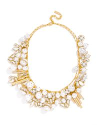 BaubleBar | Metallic Asymmetrical Pearl Shower Bib | Lyst