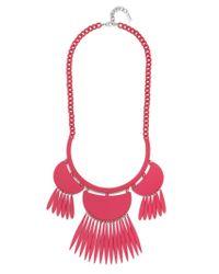 BaubleBar | Red Fluoro Tassel Dreamcatcher Bib-raspberry | Lyst