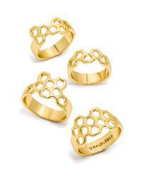 BaubleBar - Metallic Honeycomb Ring Quad - Lyst