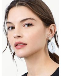 BaubleBar - White Eve Drop Earrings - Lyst