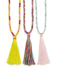 BaubleBar - Multicolor Beaded Tassel Trio - Lyst