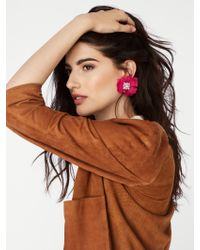 BaubleBar - Pink Paion Soft Floral Studs - Lyst