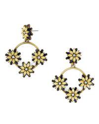BaubleBar - Metallic Eila Crystal Floral Hoops - Lyst