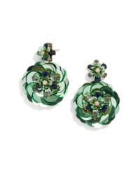 BaubleBar - Green Ravid Sequin Drops - Lyst