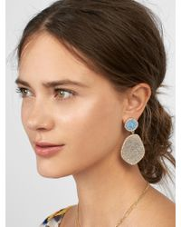 BaubleBar - Pink Vina Druzy Drop Earrings - Lyst