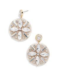 BaubleBar - White Safiya Resin Drop Earrings - Lyst