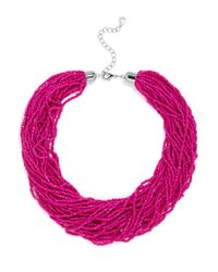 BaubleBar - Pink Myra Beaded Collar - Lyst