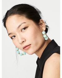 BaubleBar - Gray Havana Pom Pom Earrings - Lyst
