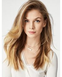 BaubleBar - White Lera Layered Necklace - Lyst