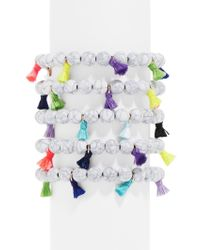 BaubleBar | Multicolor Cinco Beaded Bracelet | Lyst